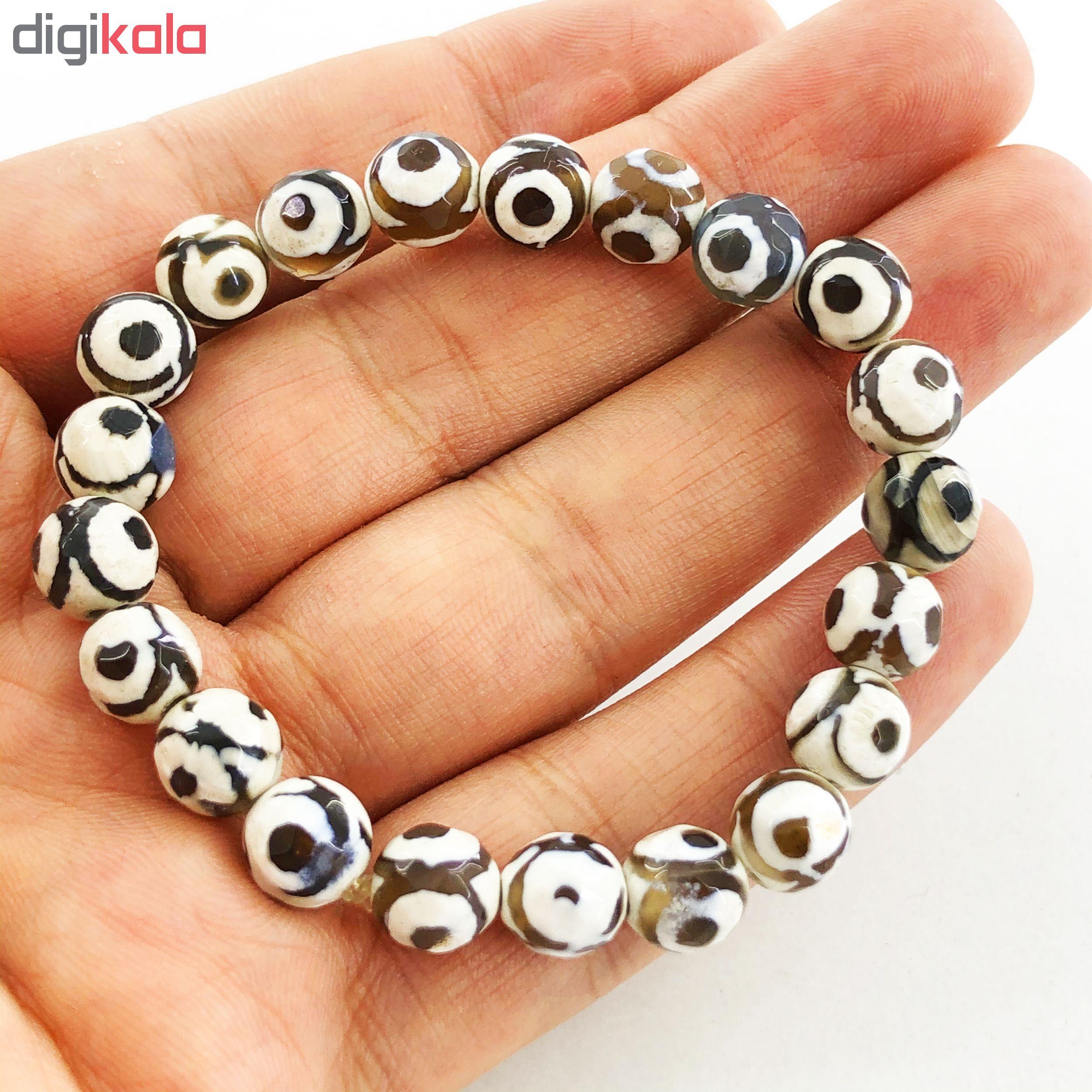 دستبند زنانه گالری عزیزی طرح چشم نظر مدل GZ98408