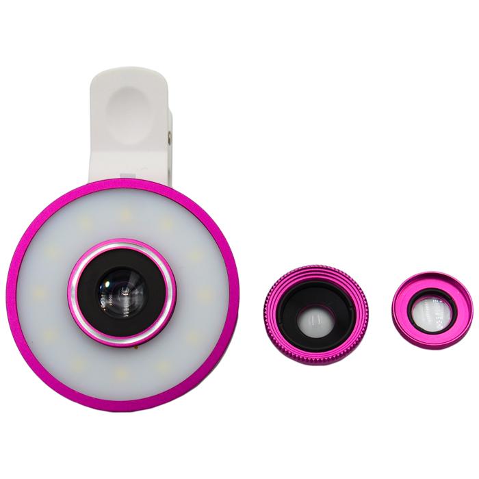 رینگ لایت مدل MUTI61 به همراه 3 عدد لنز کلیپسی موبایل               ( قیمت و خرید)