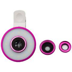 رینگ لایت مدل MUTI61 به همراه 3 عدد لنز کلیپسی موبایل