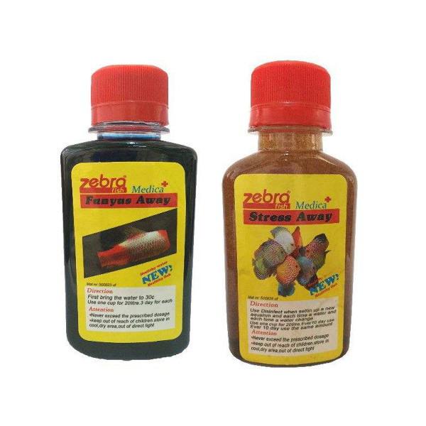 محلول ضد عفونی کننده آب زبرا مدل fn-33 حجم 120 میلی لیتر به همراه محلول ضد استرس