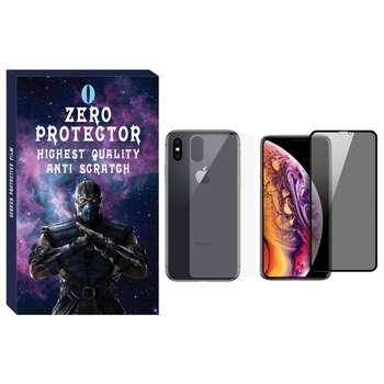 محافظ صفحه نمایش حریم شخصی و پشت گوشی زیرو مدل PRZ-01 مناسب برای گوشی موبایل اپل Iphone X/Xs