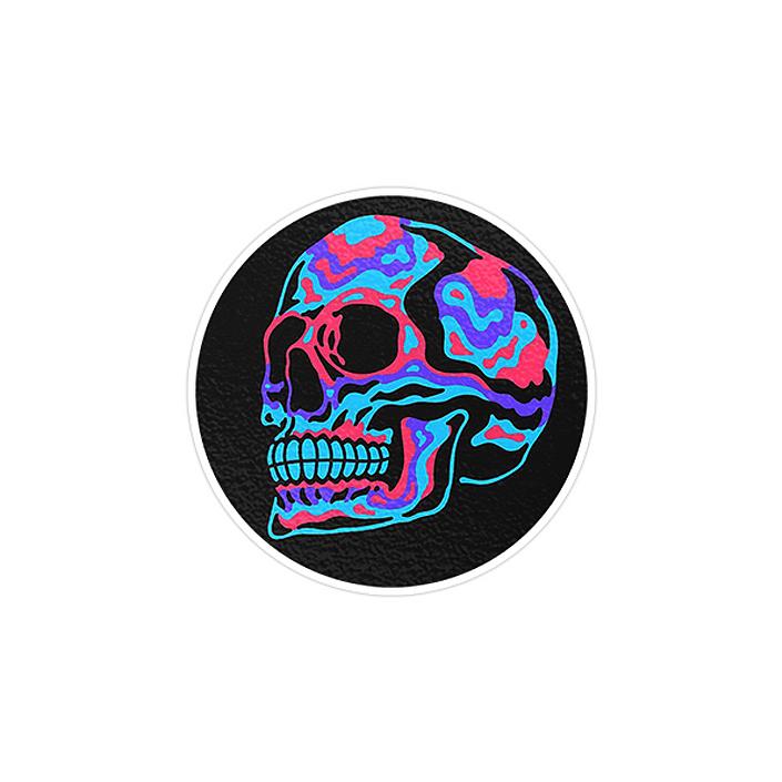 استیکر لپ تاپ ماسا دیزاین طرح Skull مدل STK585