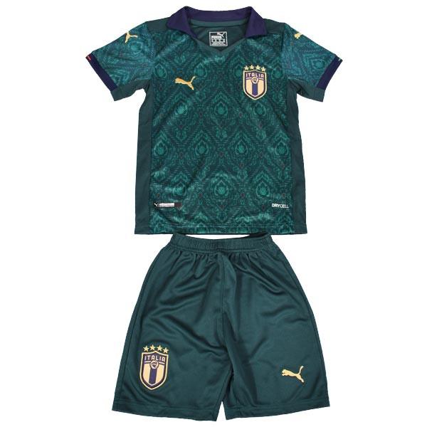 ست پیراهن و شورت ورزشی پسرانه طرح ایتالیا کد 2019.20 رنگ سبز