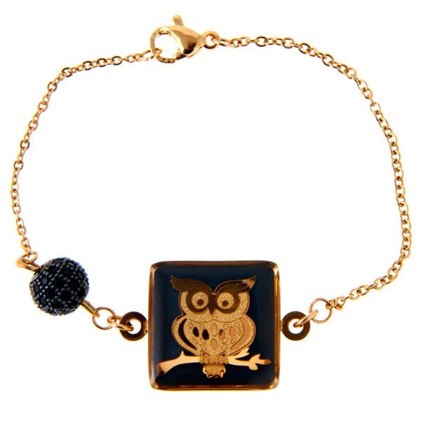دستبند طلا 24 عیار دخترانه زرین هنر ایران کد BB1002