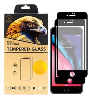 محافظ صفحه نمایش گلدن ایگل مدل DFC-X2 مناسب برای گوشی موبایل اپل iPhone 7 Plus بسته دو عددی