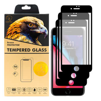 محافظ صفحه نمایش گلدن ایگل مدل DFC-X3 مناسب برای گوشی موبایل اپل iPhone 7 Plus بسته سه عددی