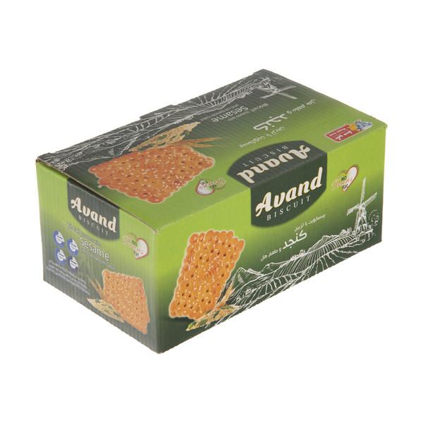 بیسکویت آوند با طعم هل و تزیین کنجد مقدار 850 گرم