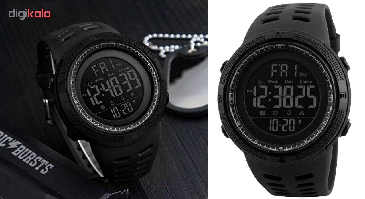 ساعت مچی دیجیتال اسکمی مدل A-1251 -  - 6