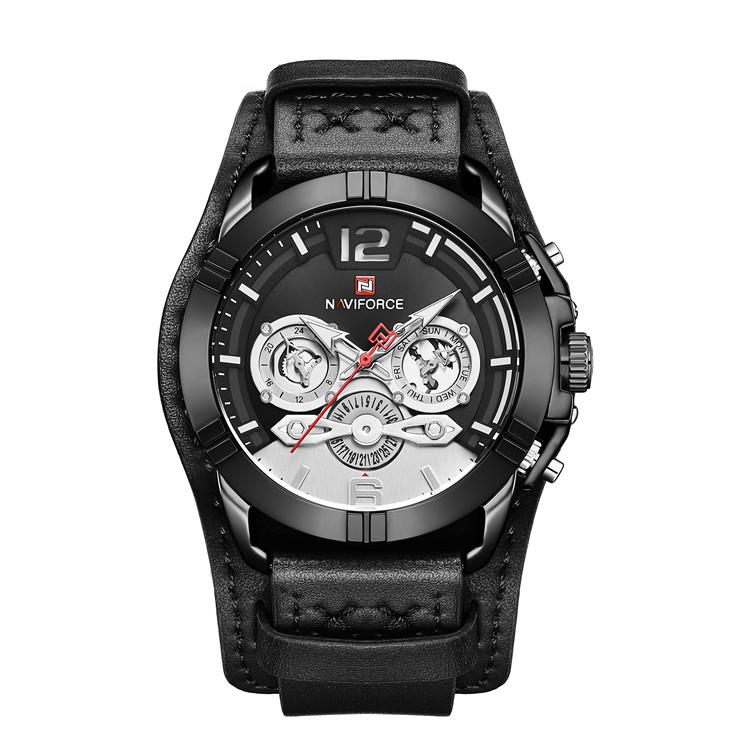 کد تخفیف                                      ساعت مچی عقربه ای مردانه نیوی فورس مدل NF9162M-B-W-B