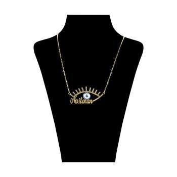 گردنبند زنانه طرح چشم نظر مدل نسترن کد 49