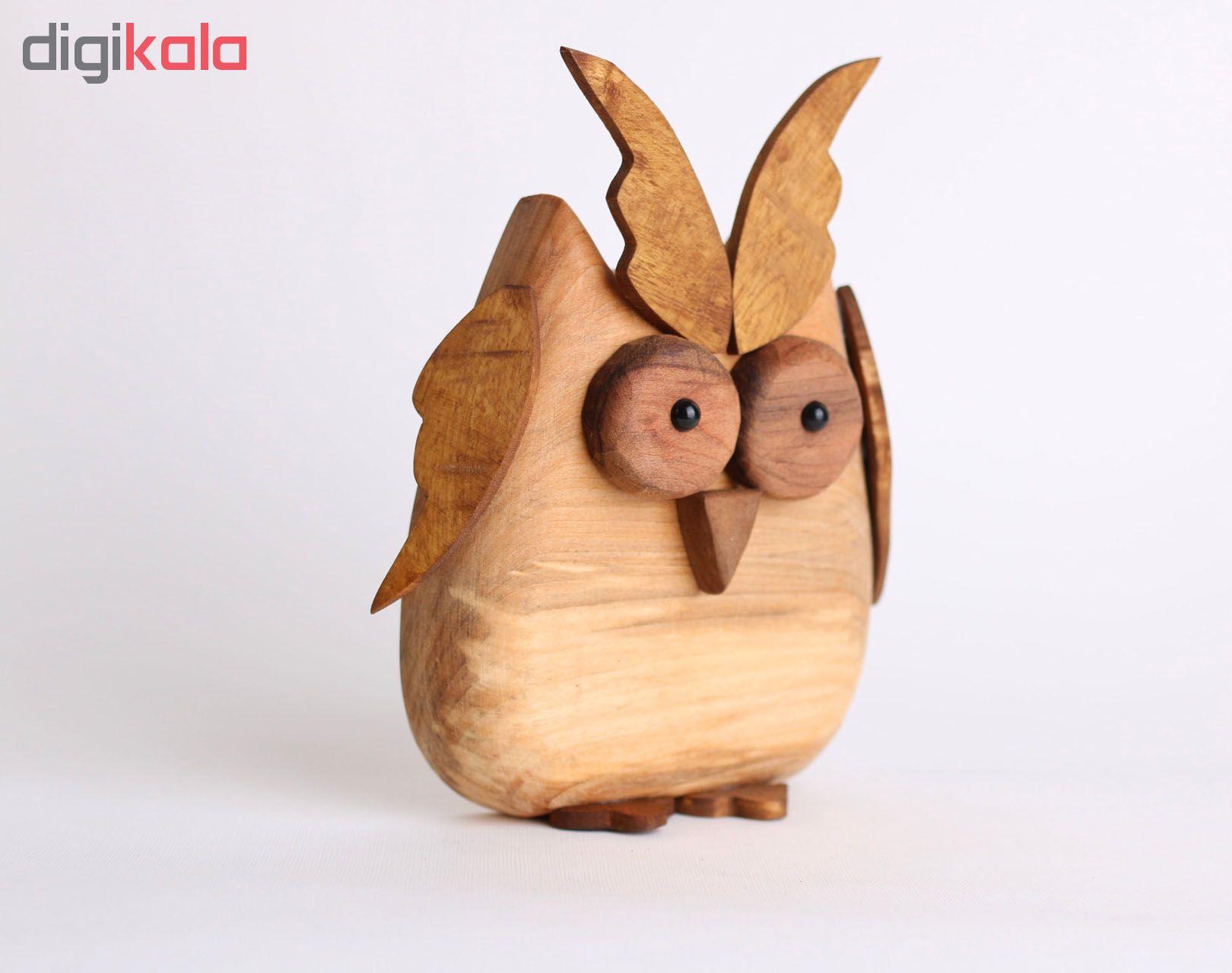 خرید                      مجسمه چوبی طرح جغد کد W12