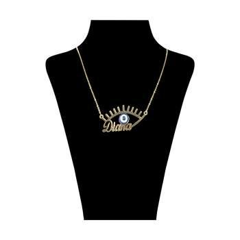 گردنبند زنانه طرح چشم نظر مدل دیانا کد 55