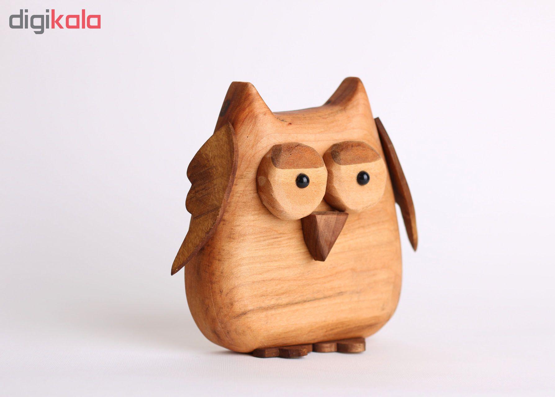 خرید                      مجسمه چوبی طرح جغد کد W13