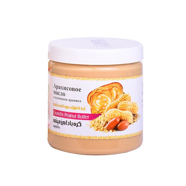 کره بادام زمینی کرانچی شیررضا مقدار 300 گرم thumb
