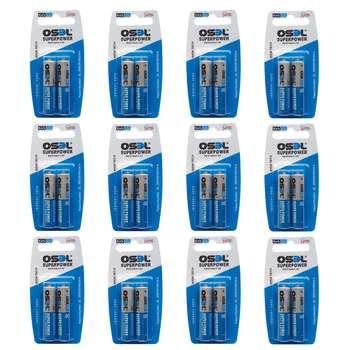 باتری نیم قلمی اوسل مدل Super Power بسته 24 عددی