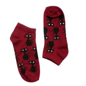 جوراب زنانه طرح گربه کد 2