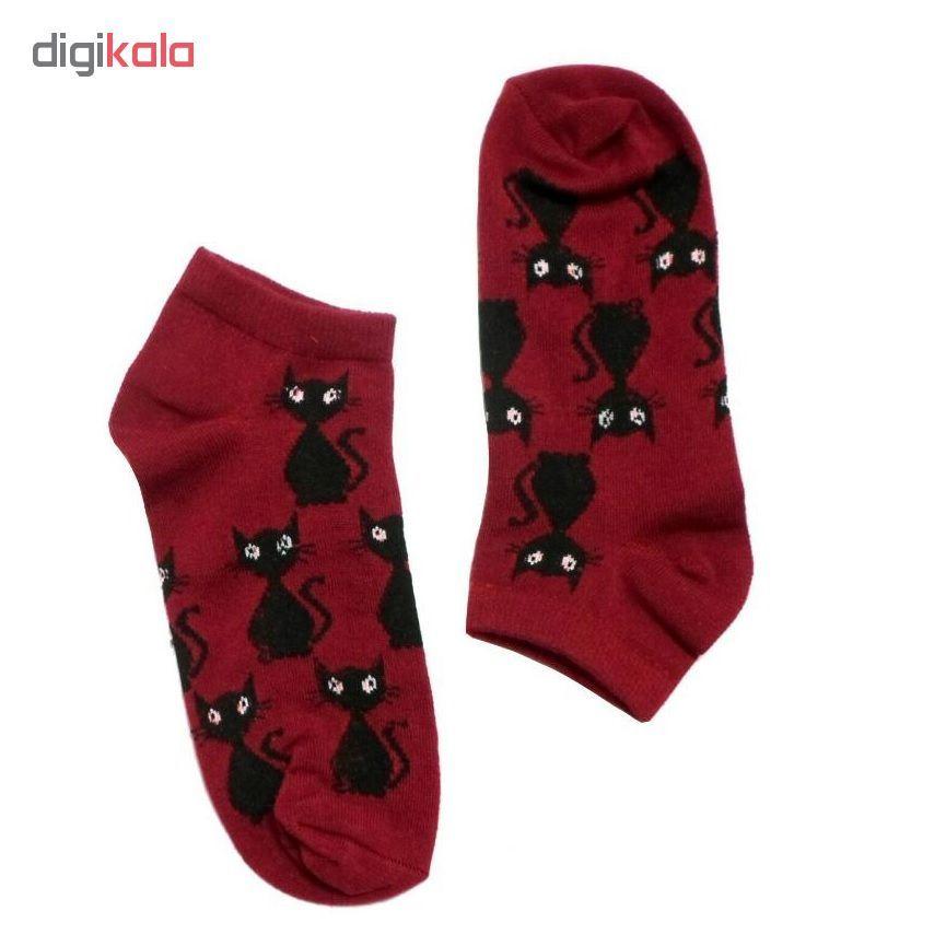 جوراب زنانه طرح گربه کد 2 main 1 1