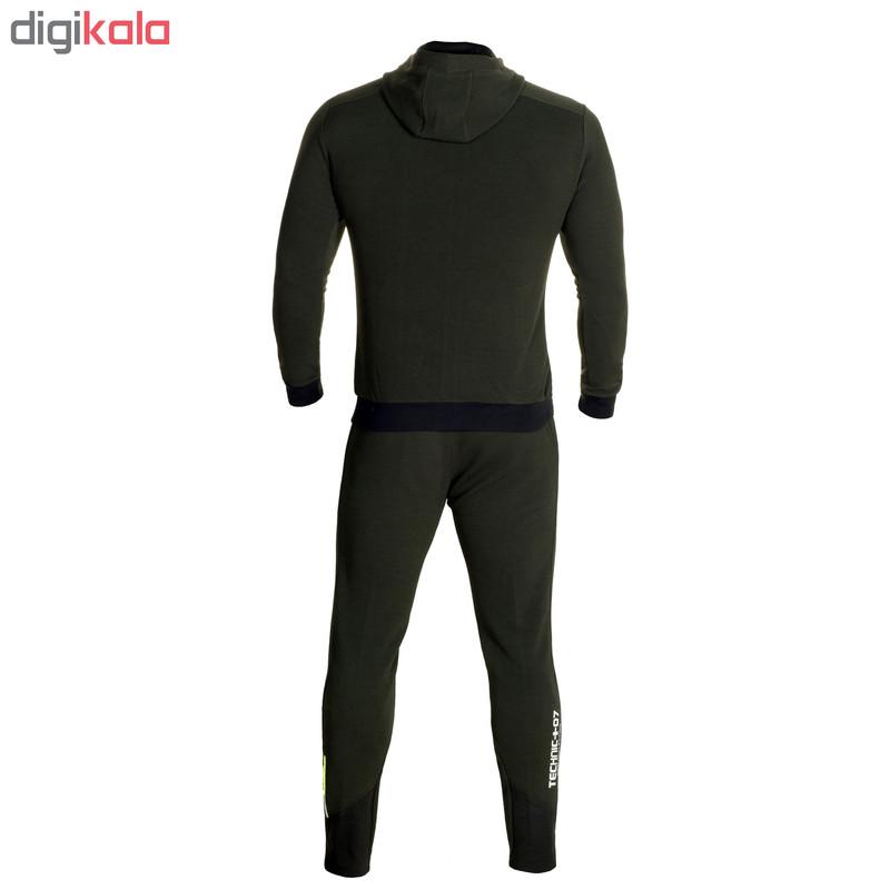 ست گرمکن و شلوار ورزشی مردانه تکنیک پلاس 07 کد GK-SH-121-126-KA