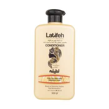 نرم کننده مو رنگ شده لطیفه مدل Olive مقدار 500 گرم