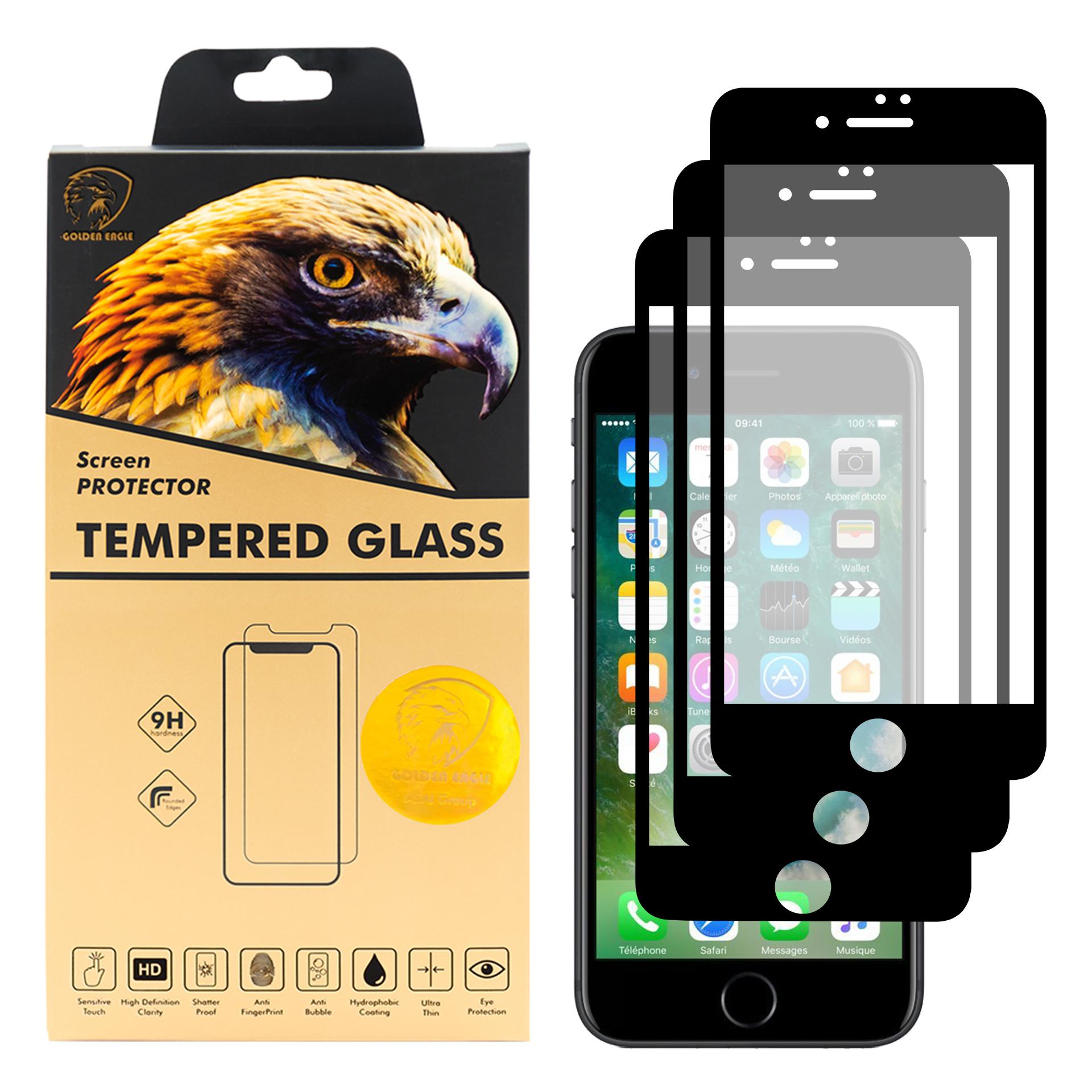 محافظ صفحه نمایش گلدن ایگل مدل DFC-X3 مناسب برای گوشی موبایل اپل iPhone 7 بسته سه عددی