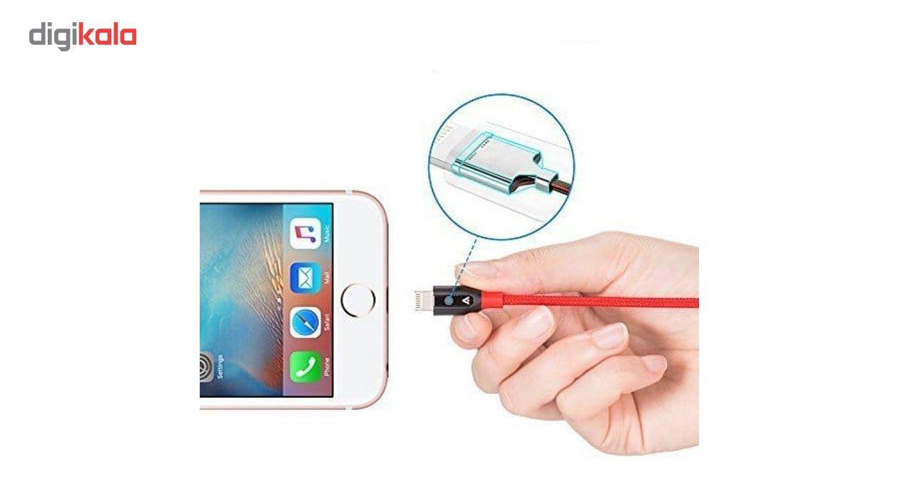 کابل تبدیل USB به لایتنینگ انکر مدل A8122 PowerLine Plus طول 1.8 متر به همراه محفظه نگهدارنده main 1 8