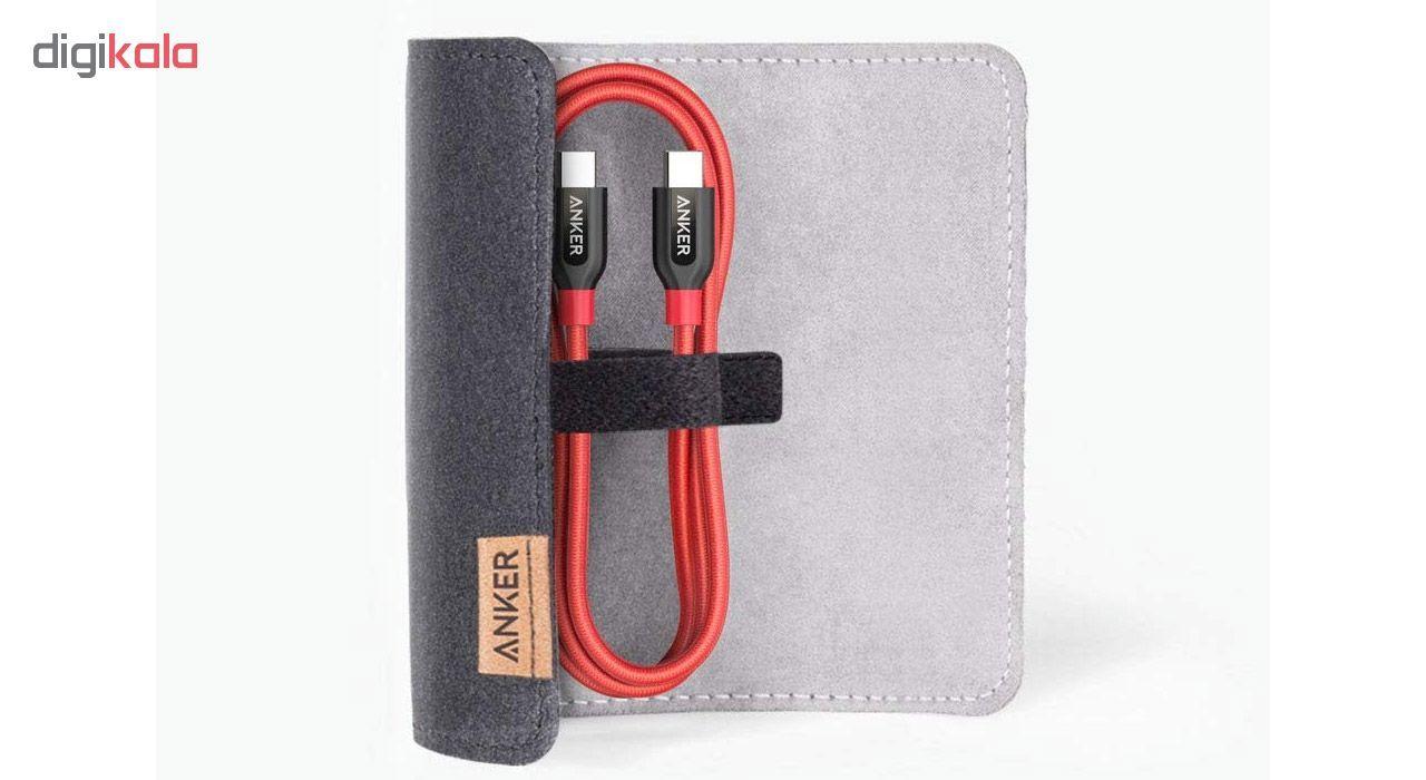 کابل تبدیل USB به لایتنینگ انکر مدل A8122 PowerLine Plus طول 1.8 متر به همراه محفظه نگهدارنده main 1 10