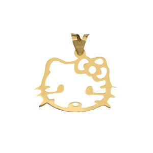 آویز گردنبند طلا 18 عیار دخترانه طرح کیتی