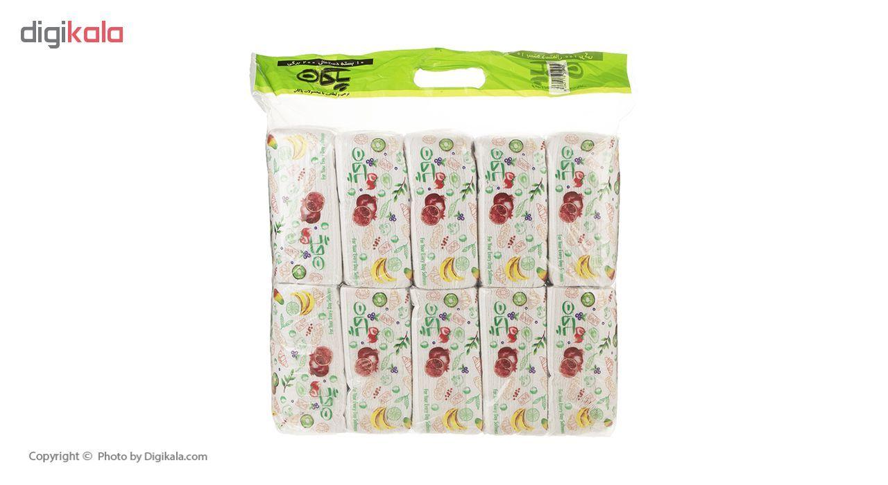 دستمال کاغذی 200 برگ پاکان مدل Simple بسته 10 عددی main 1 9