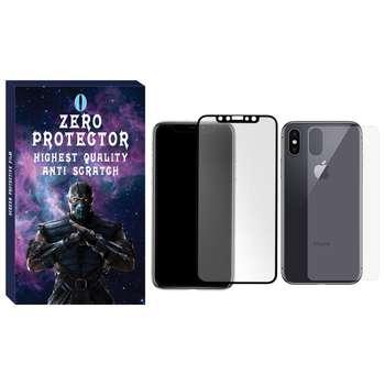 محافظ صفحه نمایش و پشت گوشی زیرو مدل MTZ-01 مناسب برای گوشی موبایل اپل Iphone X/Xs