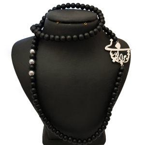 گردنبند نقره مردانه ترمه 1 طرح تو مرا جان و جهانی کد e63