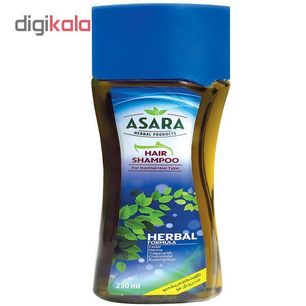 شامپو مو آسارا مدل Herbal کد 1 حجم 250 میلی لیتر