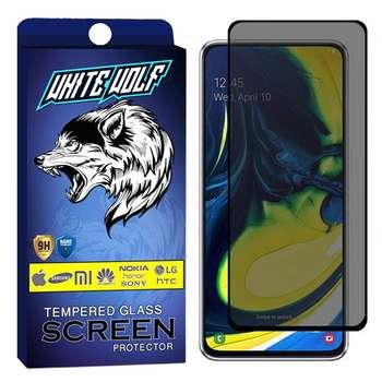 محافظ صفحه نمایش حریم شخصی وایت ولف مدل WGP مناسب برای گوشی موبایل سامسونگ Galaxy A80