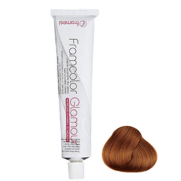 رنگ مو فرامسی مدل glamour شماره 6.34 حجم 100 میلی لیتر رنگ بلوند مسی تیره