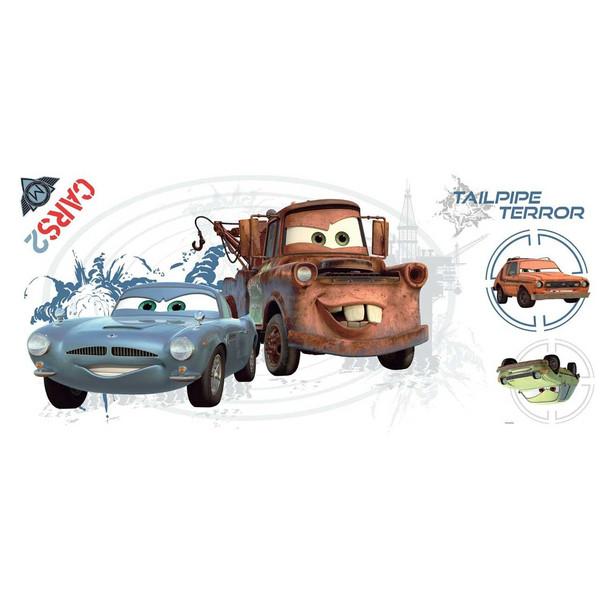 استیکر رومیت مدل Cars 2 Mator GRP Flat Pack Peel And Stick