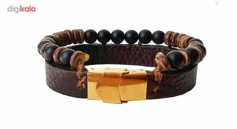 دستبند چرمی مانی چرم مدل BL-144 سایز M