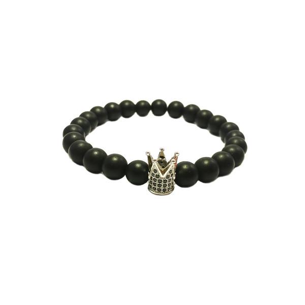 دستبند آدرینا گالری طرح تاج کد BM1049 تک سایز