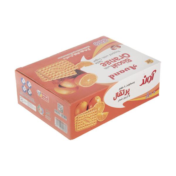 بیسکویت آوند با طعم پرتقال و تزئین شکر - 630 گرم