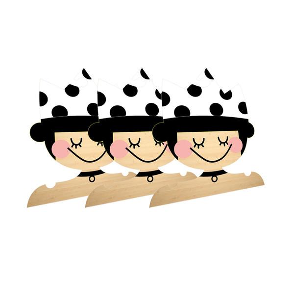 چوب لباسی نوزادی جیک جیک طرح پرنسس کوچولو بسته 3 عددی