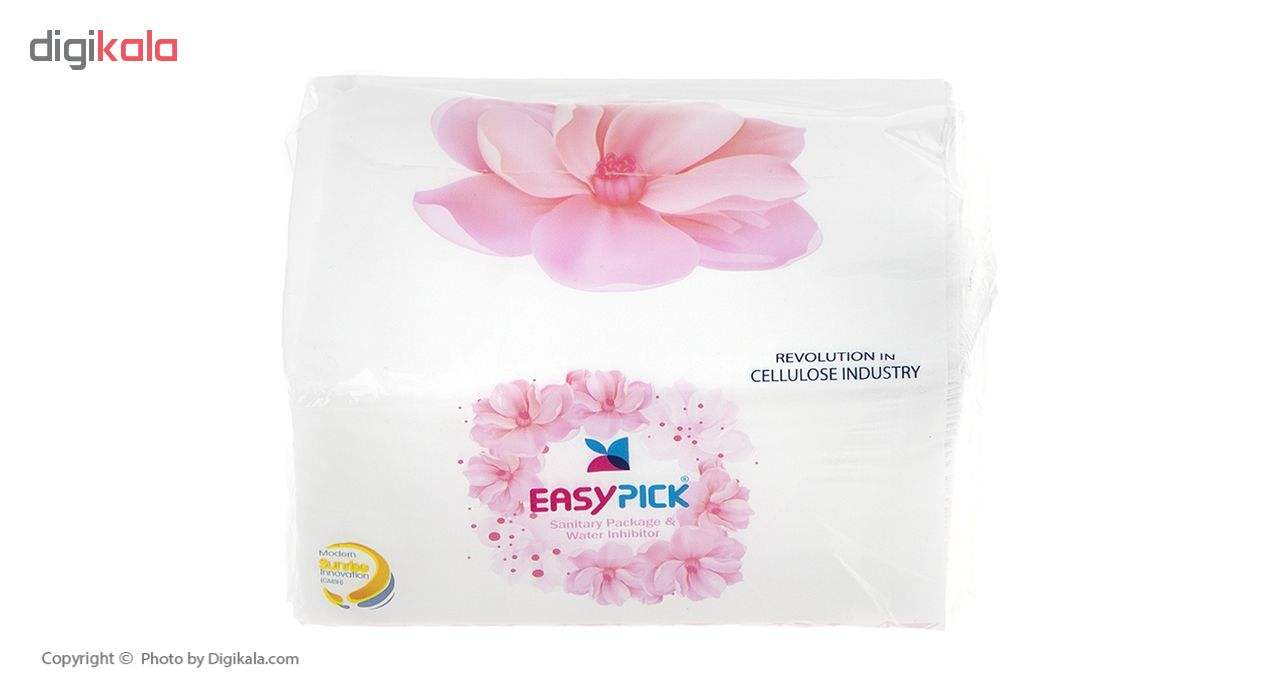 دستمال کاغذی 100 برگ ایزی پیک مدل Flower بسته 15 عددی main 1 3