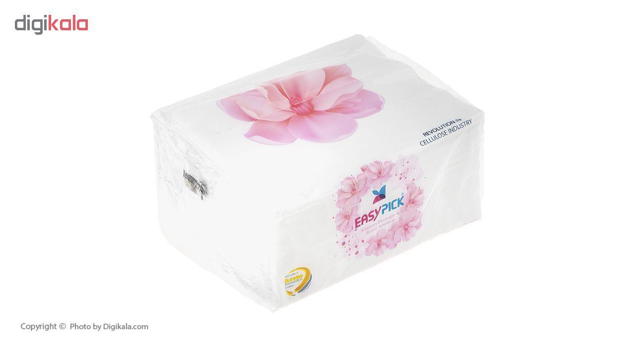 دستمال کاغذی 100 برگ ایزی پیک مدل Flower بسته 15 عددی main 1 4