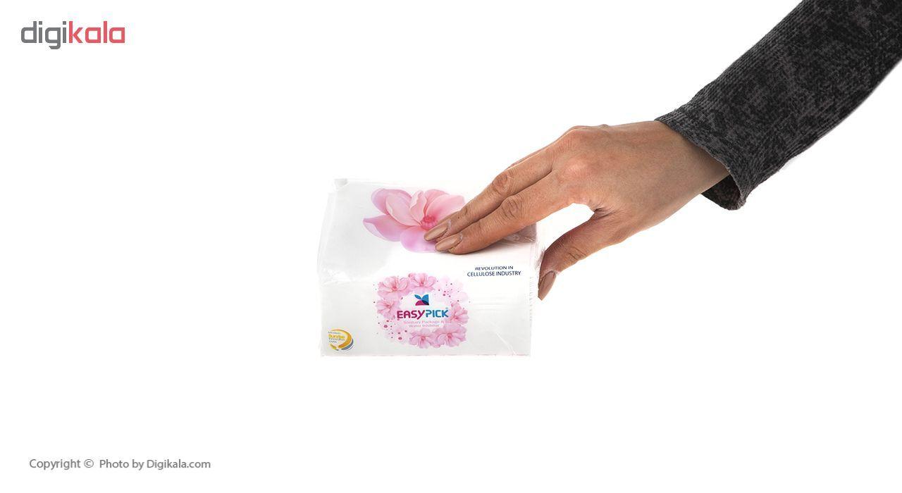 دستمال کاغذی 100 برگ ایزی پیک مدل Flower بسته 15 عددی main 1 6