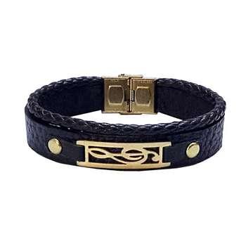 دستبند چرمی مانی چرم کد BL-191 سایز M