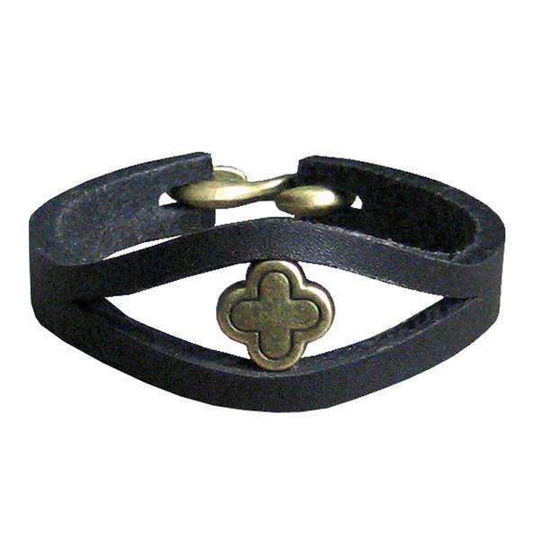 دستبند زنانه چرم دانوب مدل Gypsy کد 004 سایز M