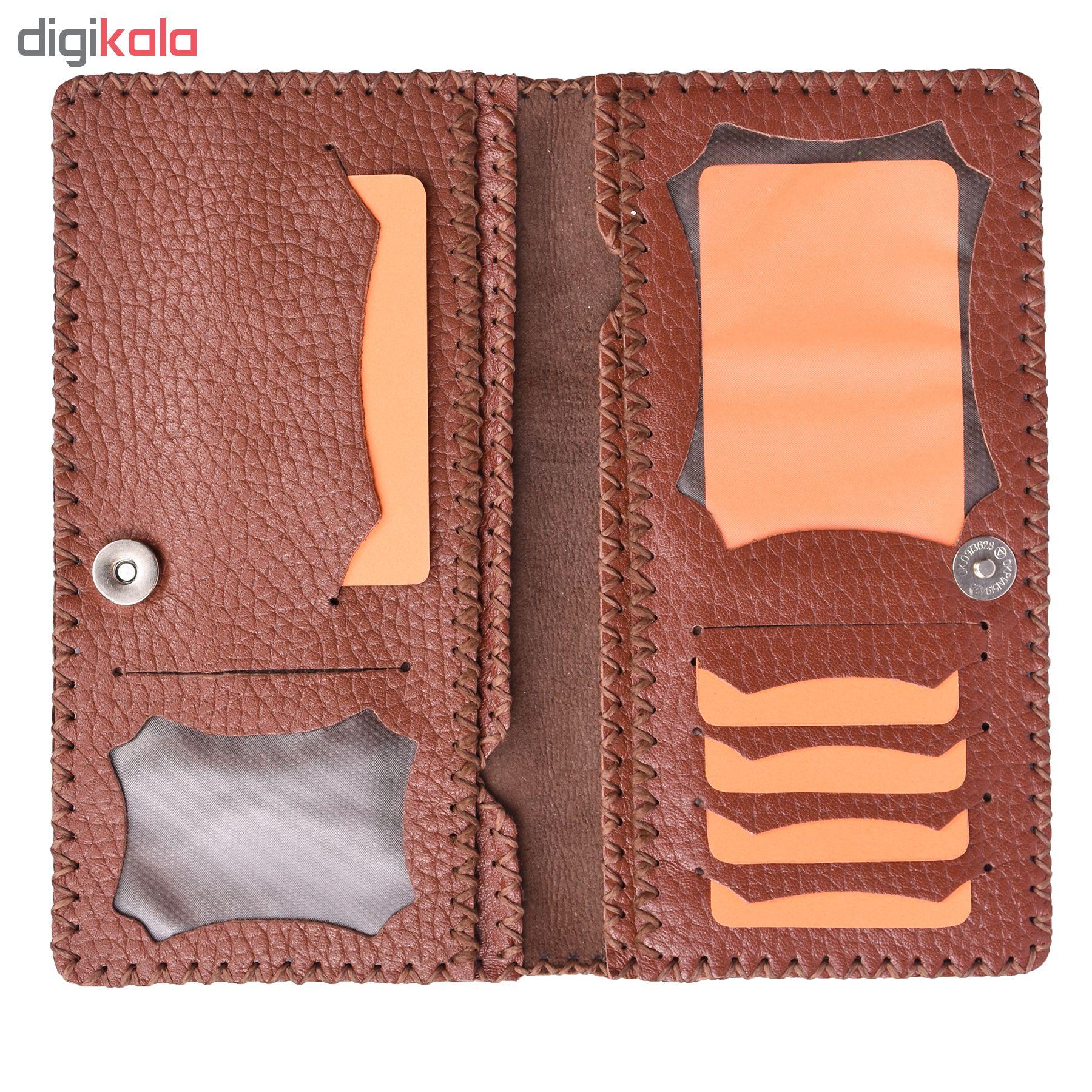 کیف پول چرمی طرح پروانه کد 3