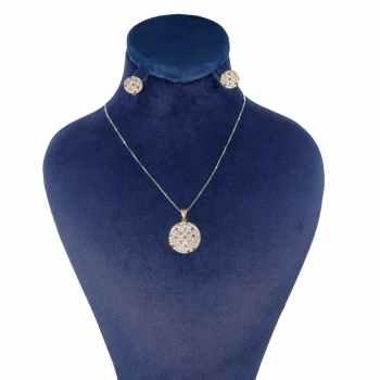 نیم ست طلا 18 عیار زنانه کانیار گالری کد 1407