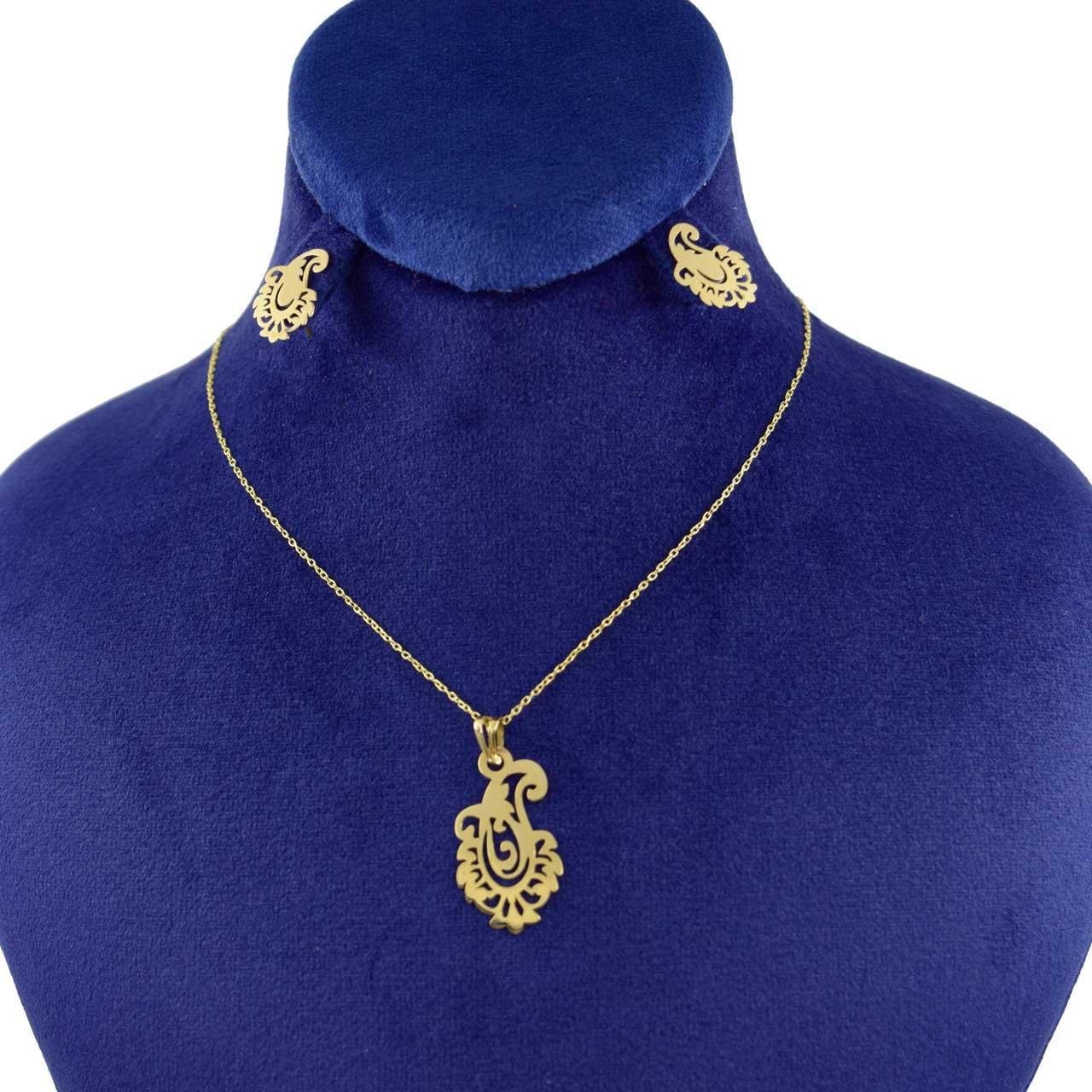 نیم ست طلا 18 عیار زنانه کانیار گالری کد 1411