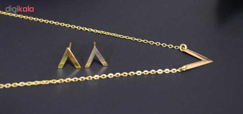 نیم ست طلا 18 عیار زنانه کانیار گالری کد 1416