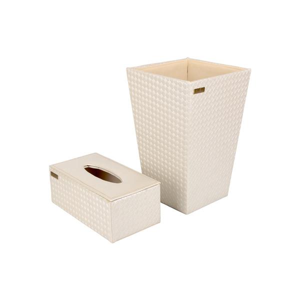 ست سطل و جعبه دستمال کاغذی کد 1442
