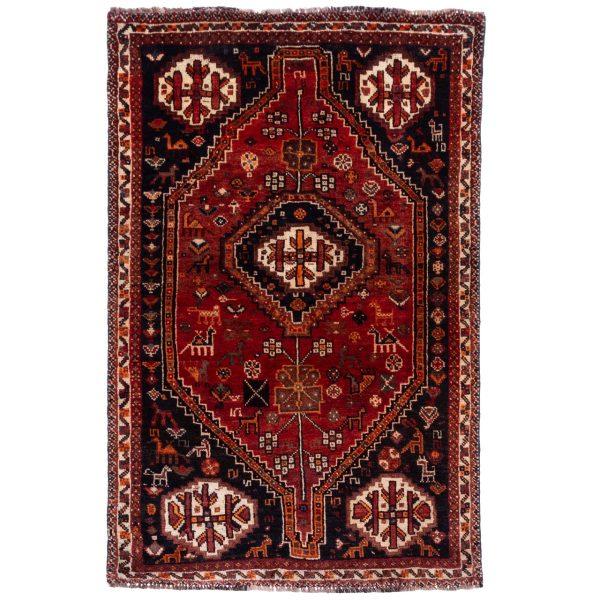 فرش دستباف قدیمی ذرع و نیم سی پرشیا کد 177035