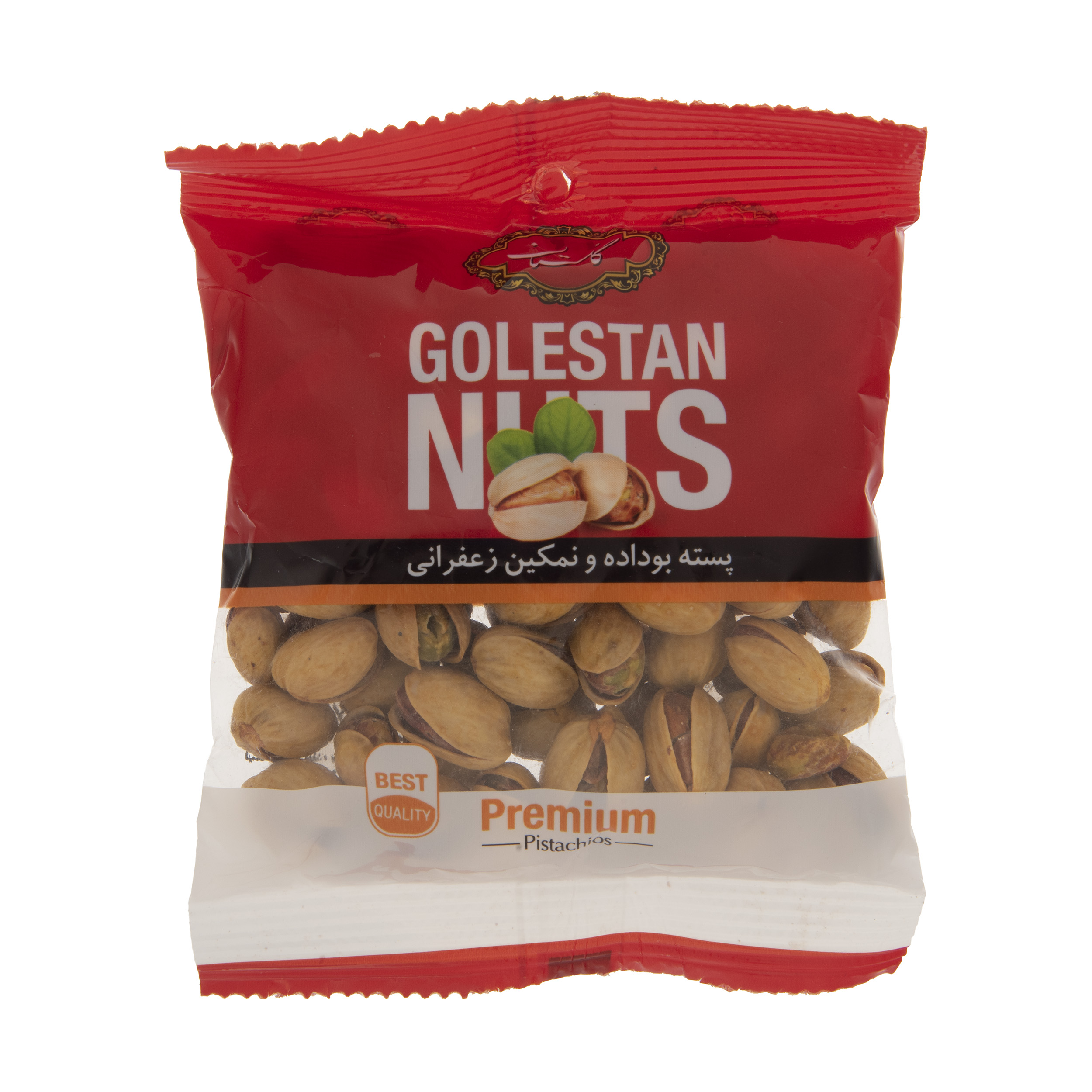 golestan roasted and salted saffrony pistachio, 75 grams